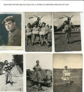 MALACRINO ANTONIO 2à COMPAGNIA PARACADUDISTI 1955 A VITERBO